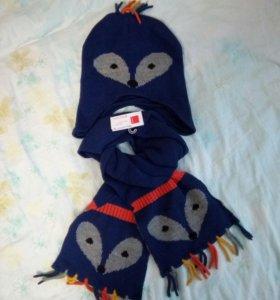 Комплект шапка+ шарф!!!