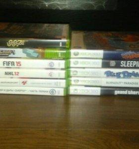 Xbox 360+2геймпада+10 игр
