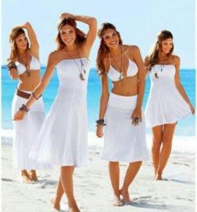 Платье 3 в 1. Белое