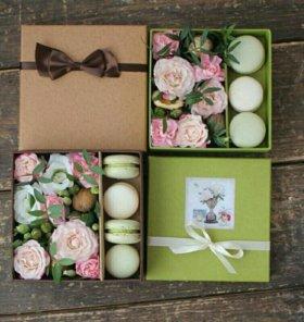 Мини коробочки с цветами.