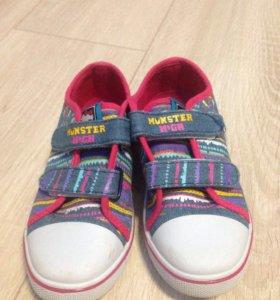 Туфли текстильные детские
