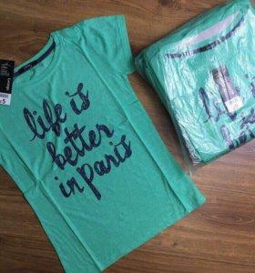Новые фирменные футболки 58-60+разм