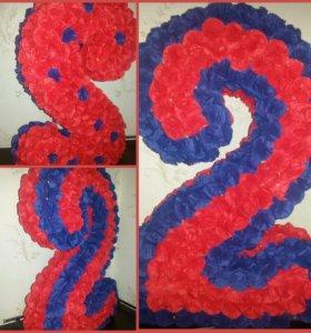 Цифра 2 из салфеток