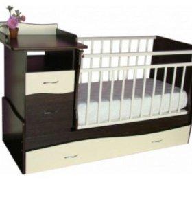 СРОЧНО!!Новая детская кроватка - трансформер Торг
