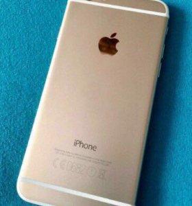 Золотистый iPhone 6 16gb. С отпечатком и чеком!