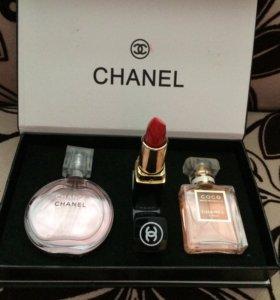 💄Подарочный набор LUX Chanel 3в1