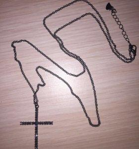 Цепочка с кулоном крестик