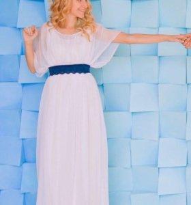 Свадебное платье и диадема