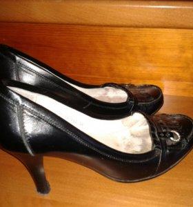 Туфли модельные натур. кож