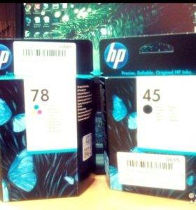 Картридж струйный HP C6578D и HP 51645AE