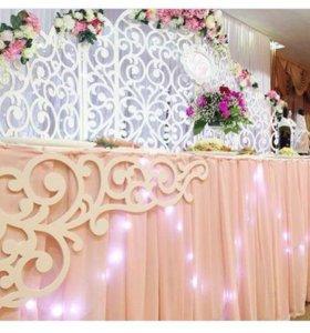 Оформлеие зала на свадьбу