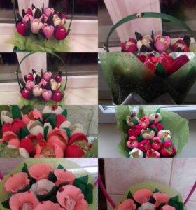 Сладкие корзинки из цветов