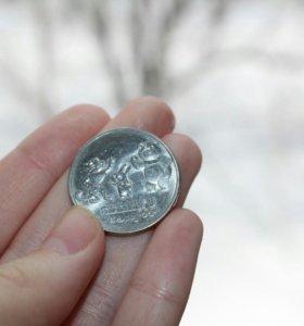 Монета олимпиады в сочи 2014 (25рублей)