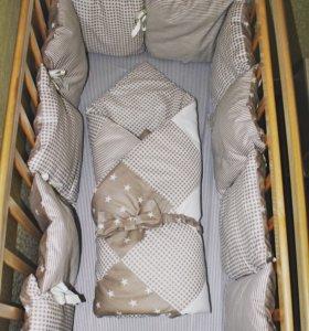Комплект в кроватку + конверт-одеяло для малы