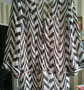Платье -блуза, размер 48