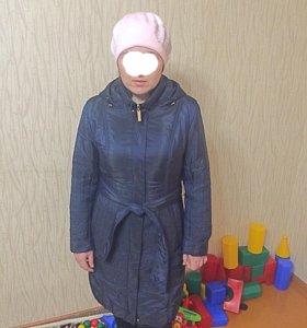Болоневое пальто на синтепоне