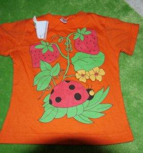 Новая футболка р.80-86