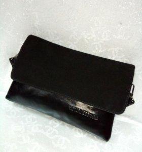 Новая, мягкая сумка-клатч