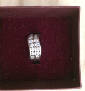 Кольцо Серебро фианит сапфир