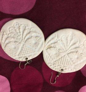 Сережки керамика ручной работы