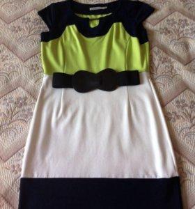 Платье трикотажное ( +пояс в подарок )