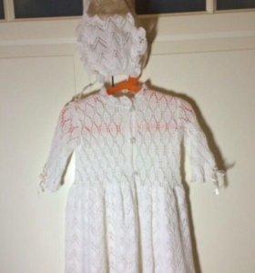 Платье крестильное детское