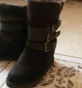 Ботинки зимние замш