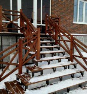 Ворота, лестницы, ограды и т.п.