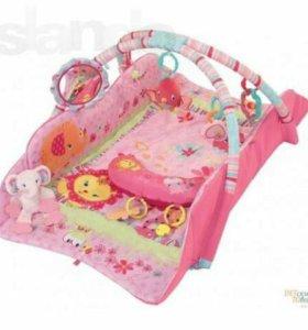 Fitch baby развивающий коврик, розовый. Новый.