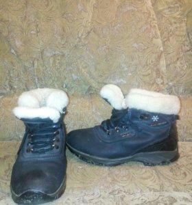 Зимние ботинки, мех натуральный