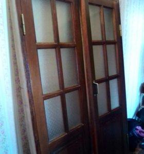 Двери для зала двухстворчатые