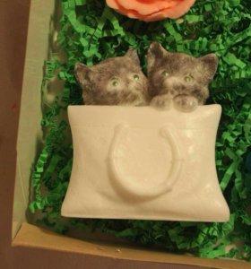 Подарок ручной работы. Набор из 4 натуральных мыло