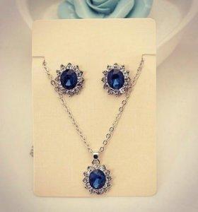 Комплект ожерелье и серьги 😍