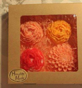 Подарки ручной работы. Набор из 4 натуральных мыло