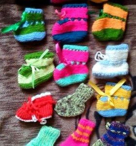 Пинетки, носки (ручной работы)
