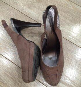 Туфли натуральная замша 38 р