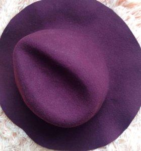 Шляпа бордовая