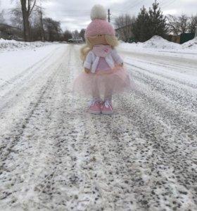 Интерьерная текстильная кукла 35см