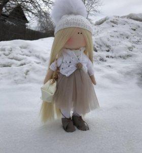 Интерьерная текстильная кукла 45см!