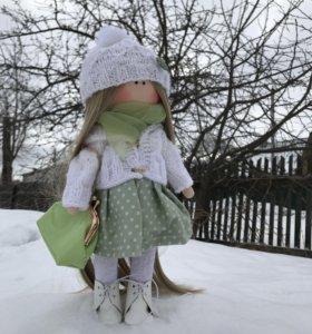 Интерьерная текстильная кукла 32см