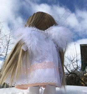 Интерьерная текстильная кукла Ангел 32см