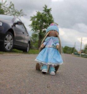 Интерьерная текстильная кукла 26см