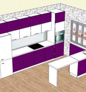 Продаётся новый готовый кухонный гарнитур
