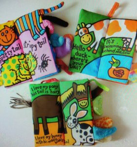Сенсорные развивающие книжки-игрушки Хвосты.