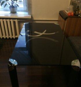Стол черный стеклянный цена снижена
