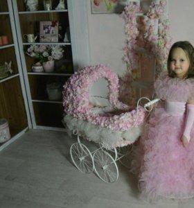 Платье праздничное для девочки 5-7 лет