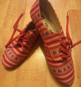 Тканевые летние ботинки
