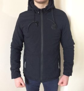 Чёрная куртка-ветровка Philipp Plein