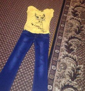 Клёш новые джинсы