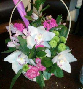 Цветы ( букеты, композиции, коробочки)